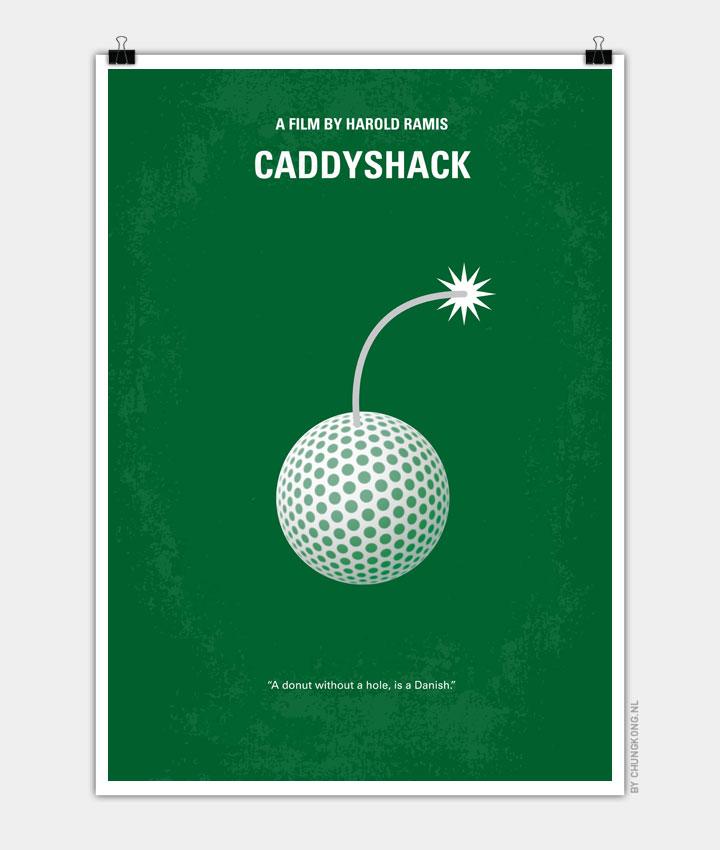 No013 My Caddyshack minimal movie poster 720px