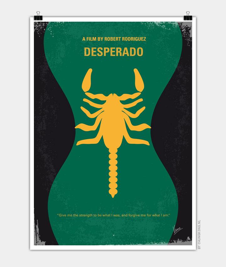 No021 My Desperado minimal movie poster 720px