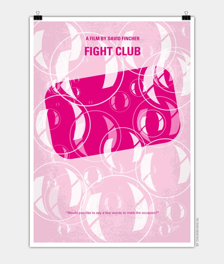 No027 My Fight Club minimal movie poster 720px