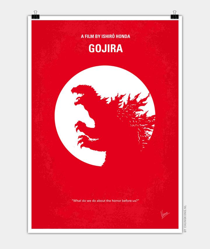 No029 1 My Godzilla 1954 minimal movie poster 720px