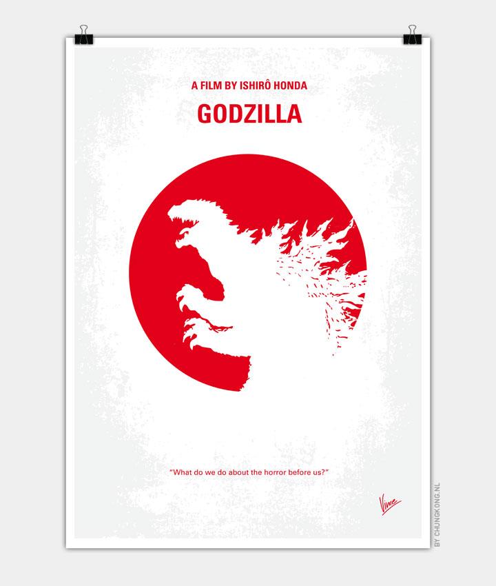 No029 2 My Godzilla 1954 minimal movie poster 720PX