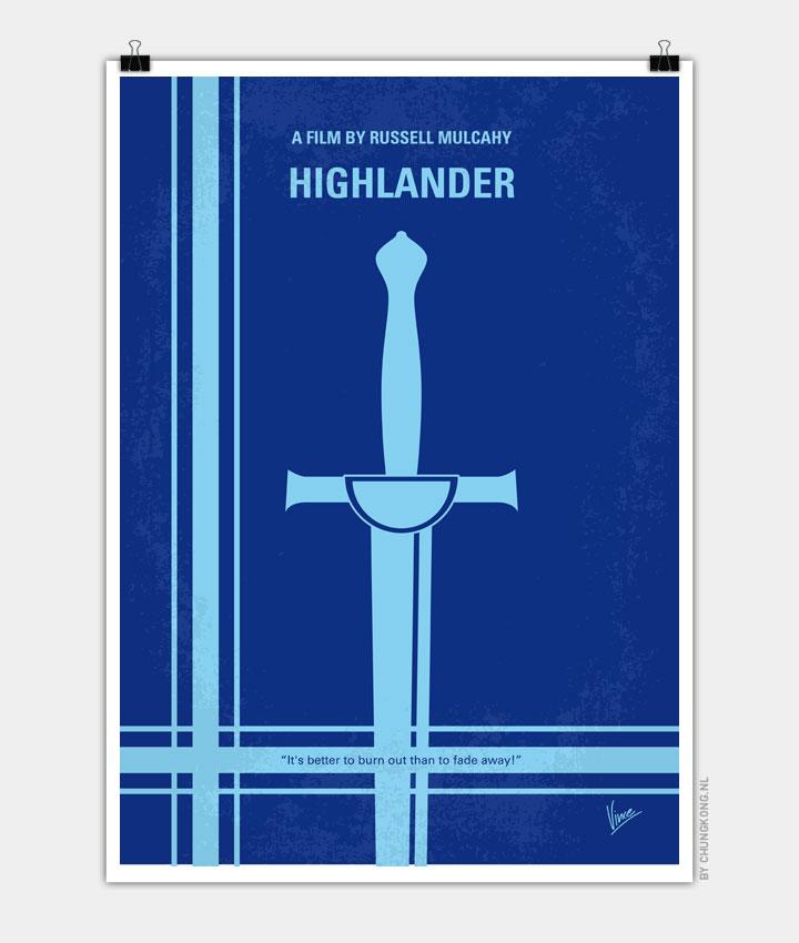 No034 My Highlander minimal movie poster 720px