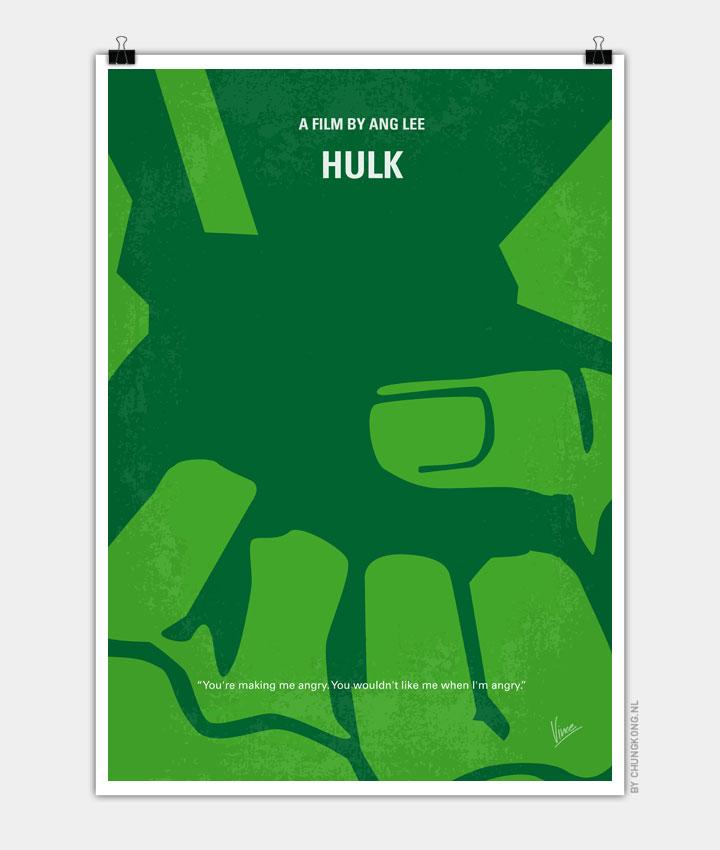 No040 My HULK minimal movie poster 720px