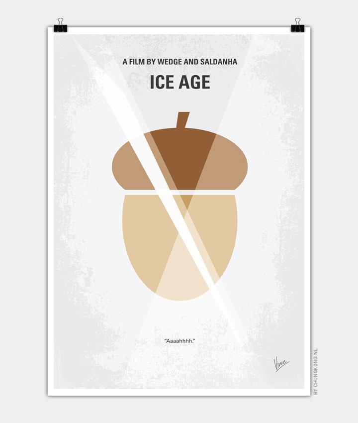 No041 My Ice Age minimal movie poster 720px