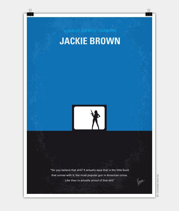 No044 My Jackie Brown minimal movie poster 720px