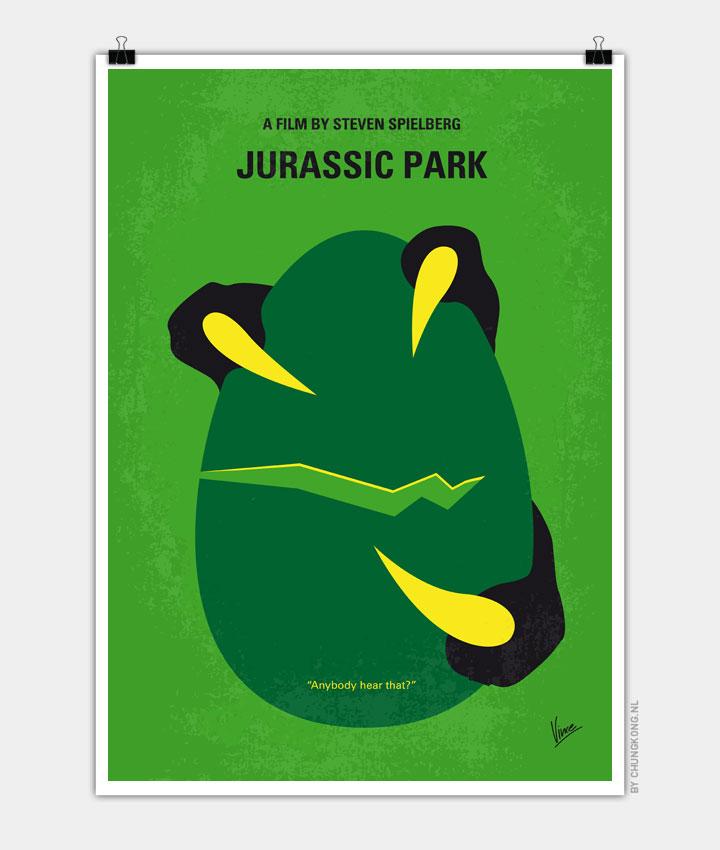 No047 My Jurasic Park minimal movie poster 720px