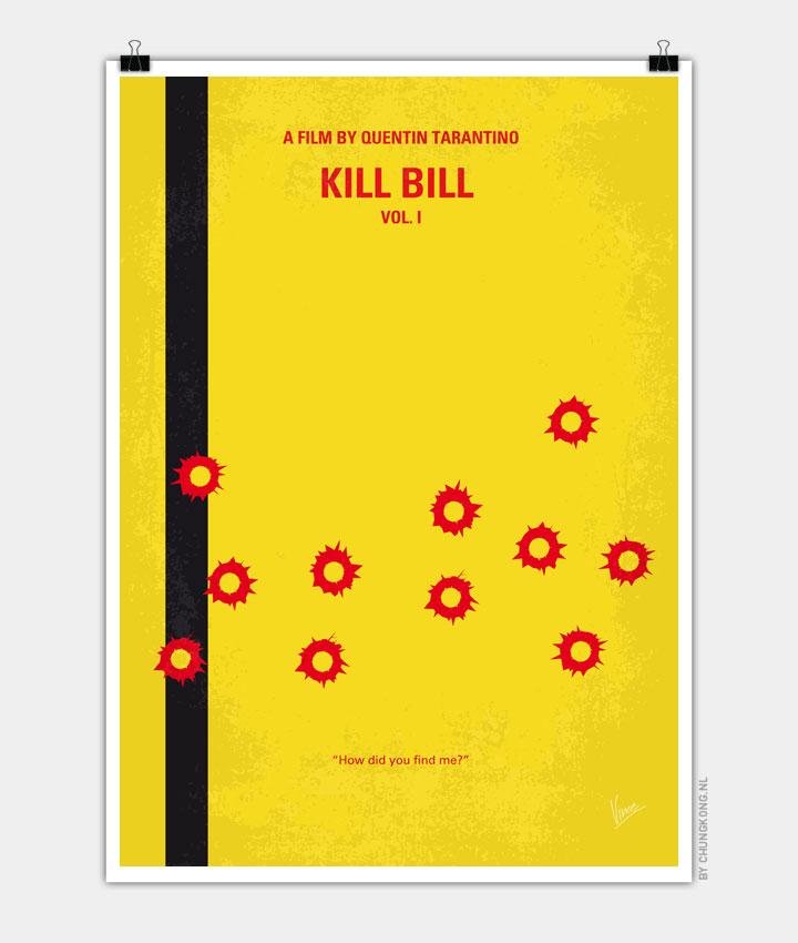 No048 My Kill Bill part 1 minimal movie poster 720px