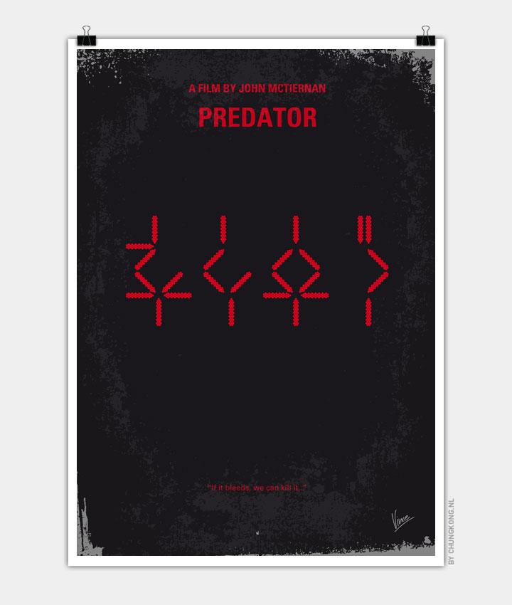 No066 My predator minimal movie poster 720px