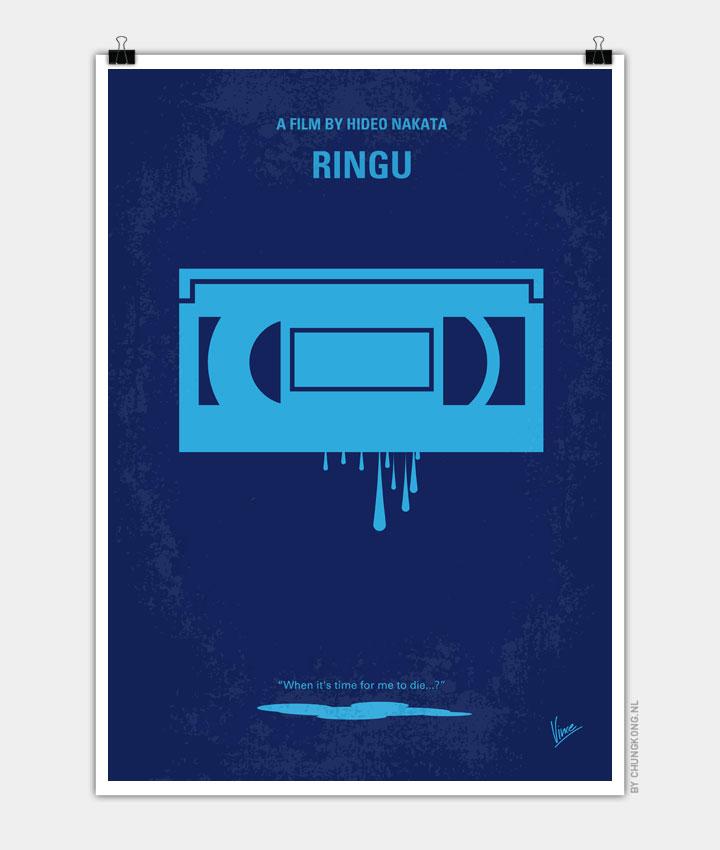No070 My Ringu minimal movie poster 720px