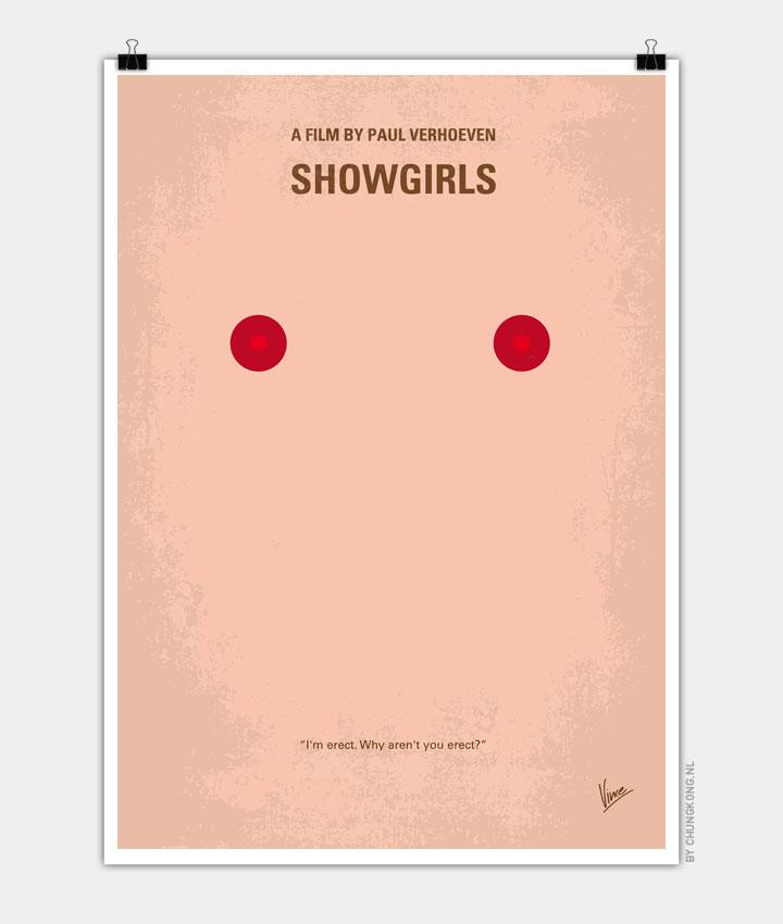 No076 My showgirls minimal movie poster 720px
