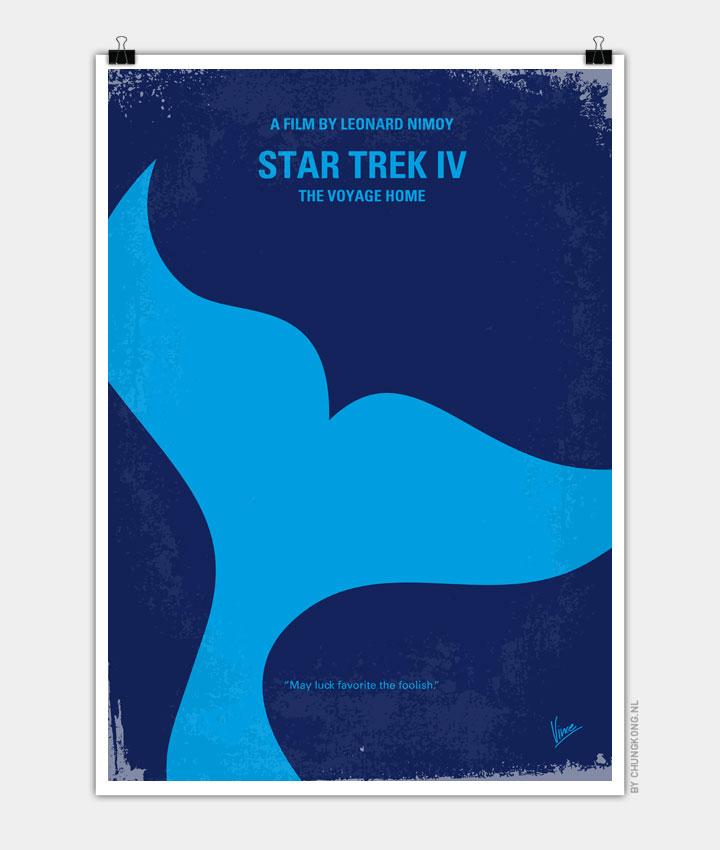 No084 My Star Trek 4 minimal movie poster 720PX