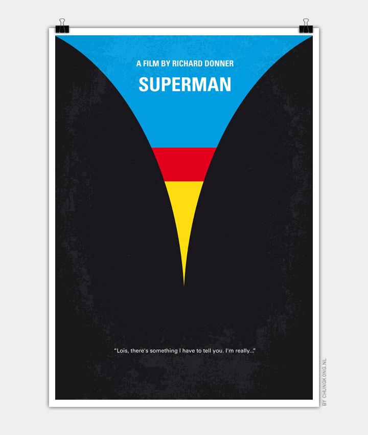 No086 My Superman minimal movie poster 720px