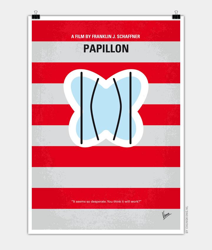 No098 My Papillon minimal movie poster 720PX