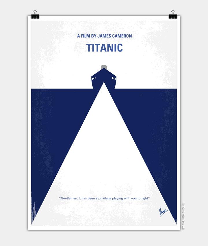 No100 My Titanic minimal movie poster 720px