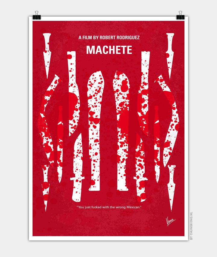 No114 My Machete minimal movie poster 720px