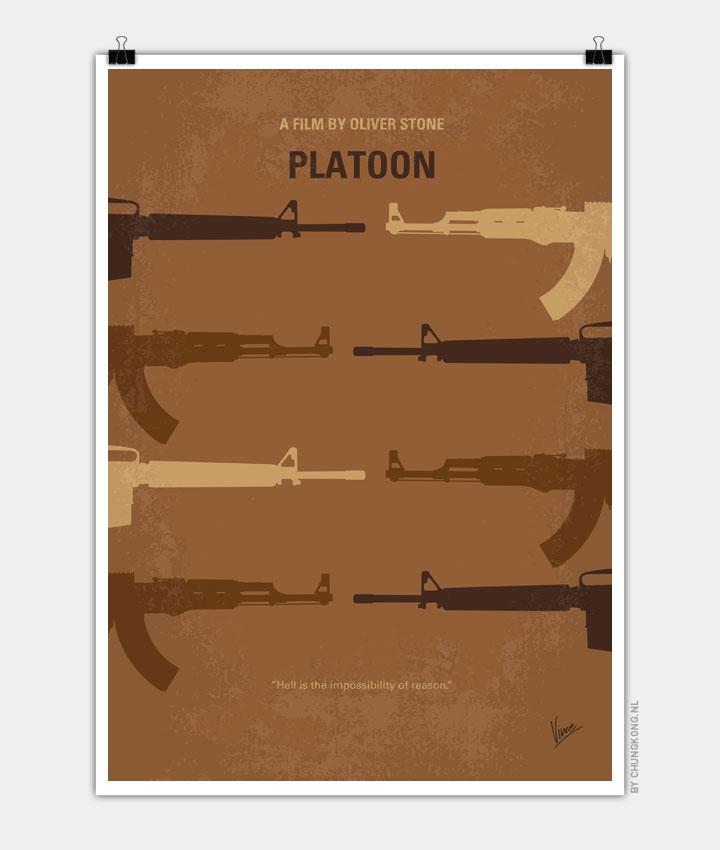 No115 My Platoon minimal movie poster 720px