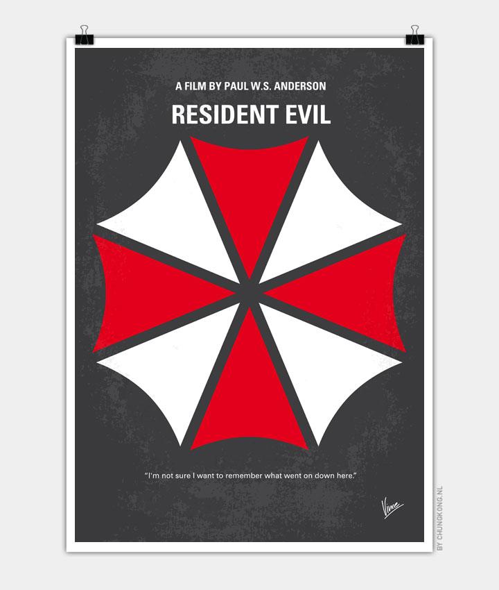 No119 My RESIDENT EVIL minimal movie poster 720px