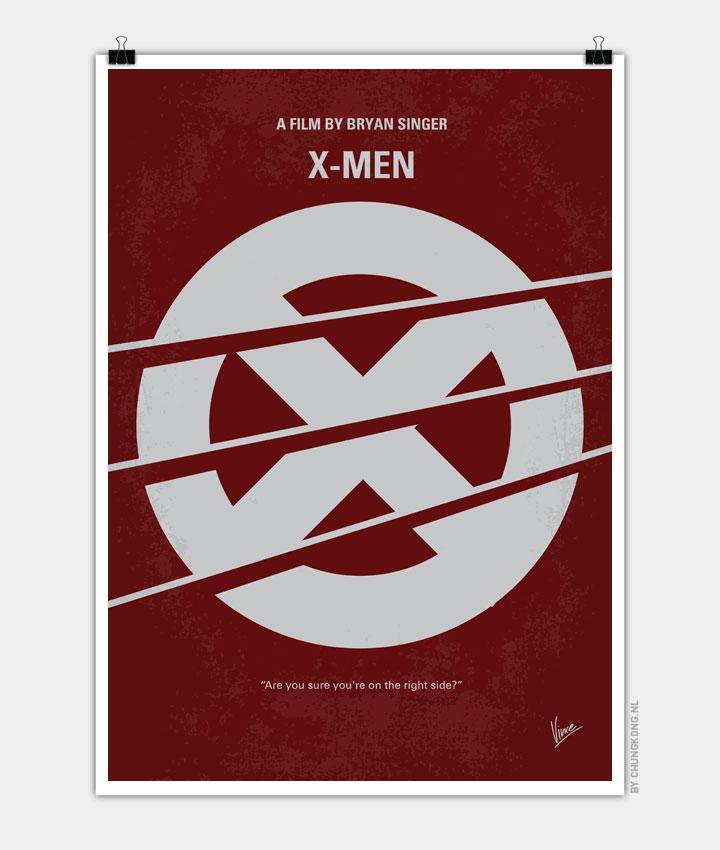 No123 My Xmen minimal movie poster 720px