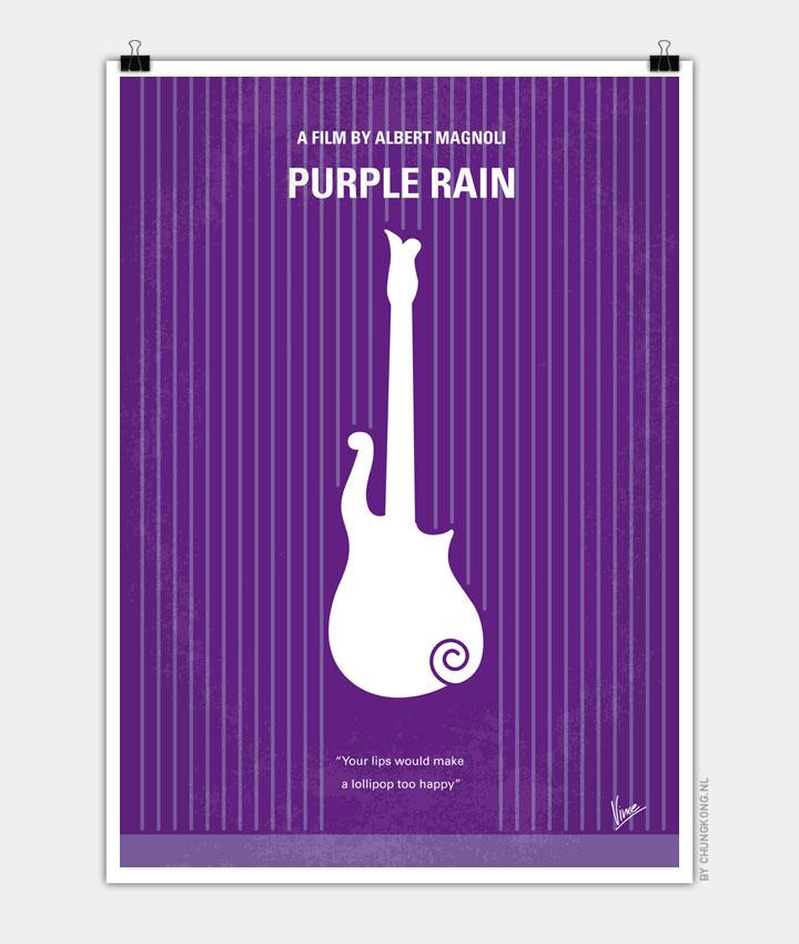 No124 My PURPLE RAIN minimal movie poster 720px