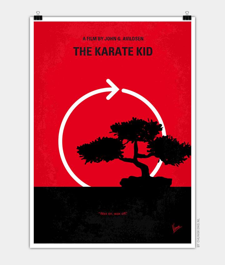 No125 My KARATE KID minimal movie poster 720px