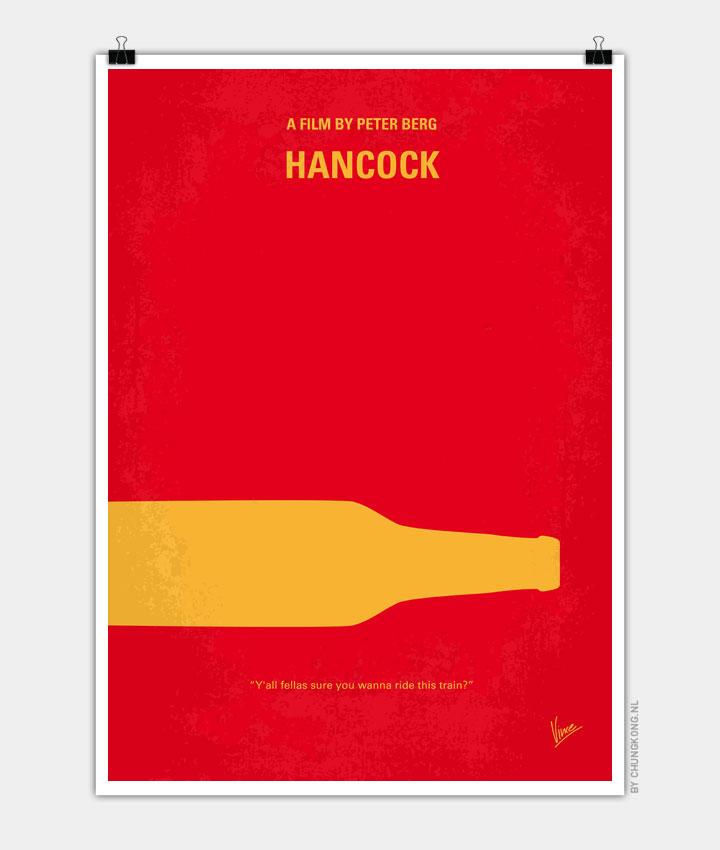 No129 My HANCOCK minimal movie poster 720px