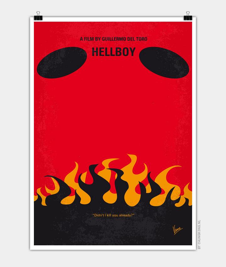 No131 My HELLBOY minimal movie poster 720px