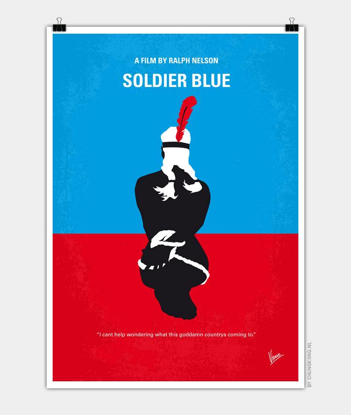 No136 My SOLDIER BLUE minimal movie poster 720px