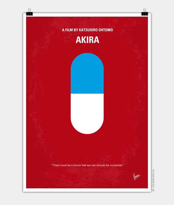 No144 My AKIRA minimal movie poster 720px