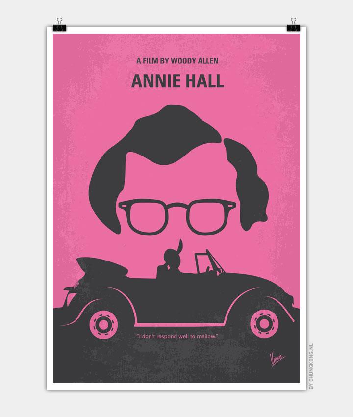 No147 My Annie Hall minimal movie poster 720px