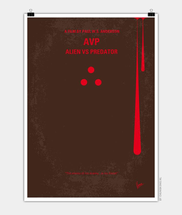 No148 My AVP minimal movie poster 720px