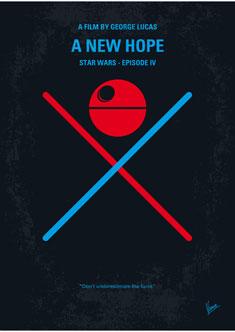No154 My Star Wars Episode Iv A New Hope Minimal Movie Poster Chungkong