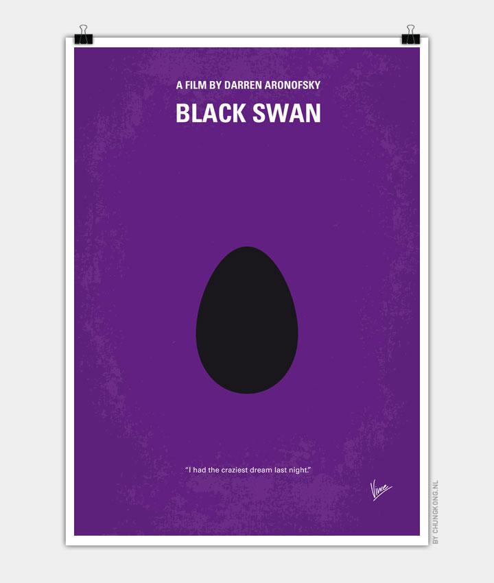 No162 My Black Swan minimal movie poster 720px