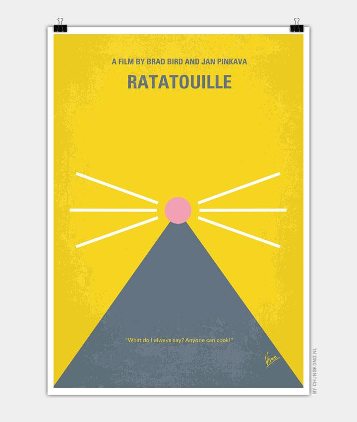 No163 My Ratatouille minimal movie poster 720px