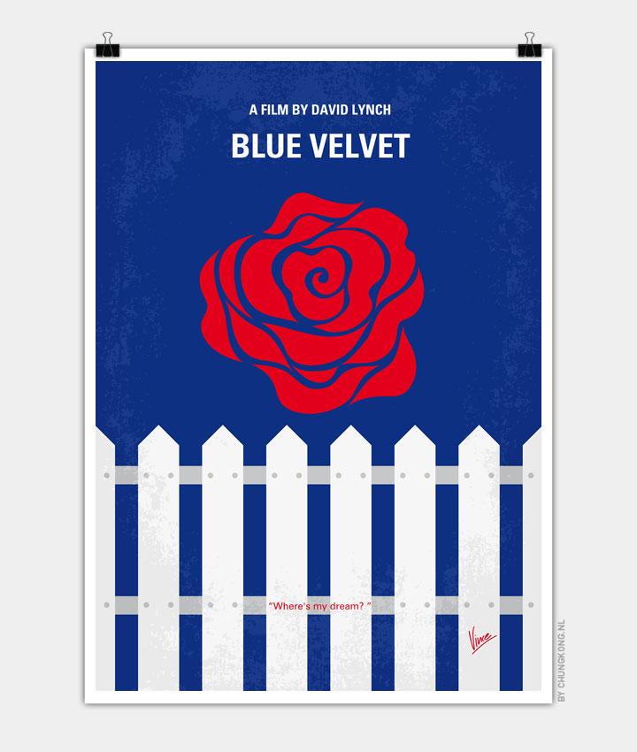 No170 My BLUE VELVET minimal movie poster 720px