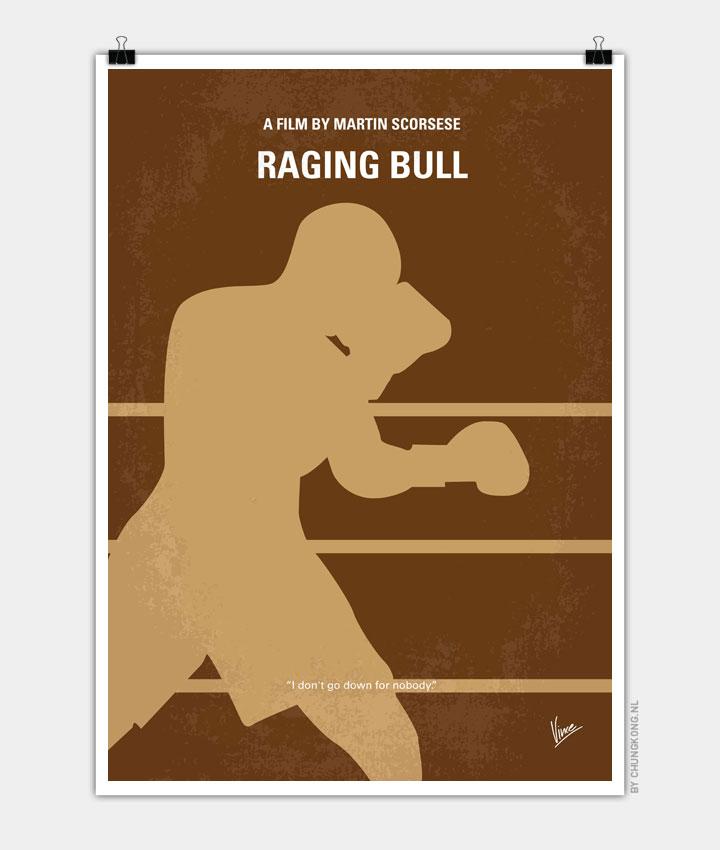 No174 My Raging Bull minimal movie poster 720px