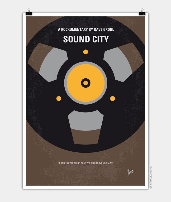 No181 My Sound City minimal movie poster 720px