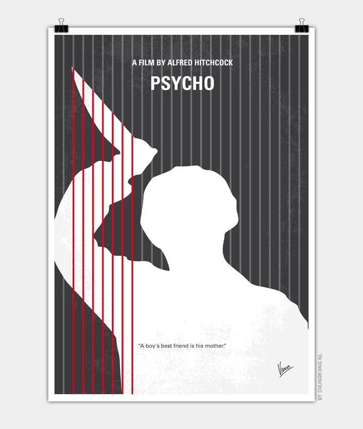 No185 My Psycho minimal movie poster 720px