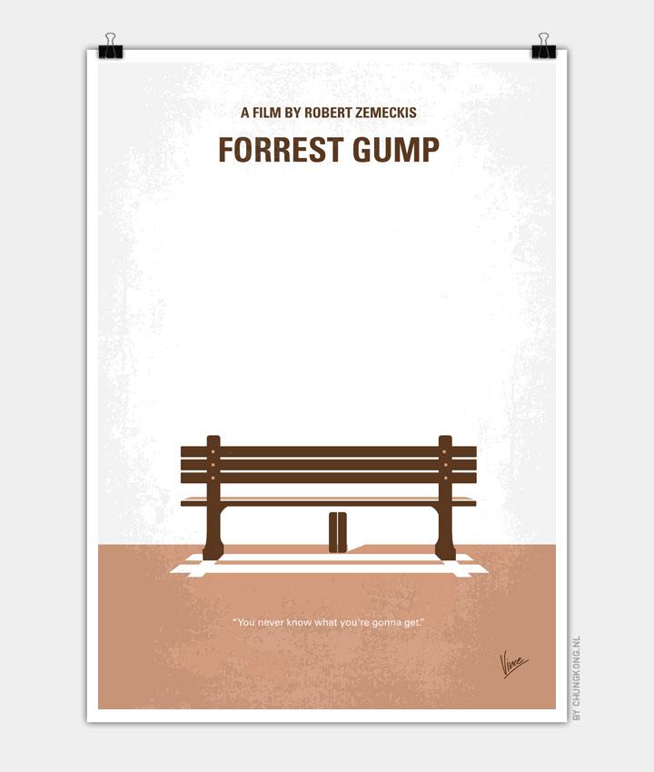 No193 My Forrest Gump minimal movie poster 720px