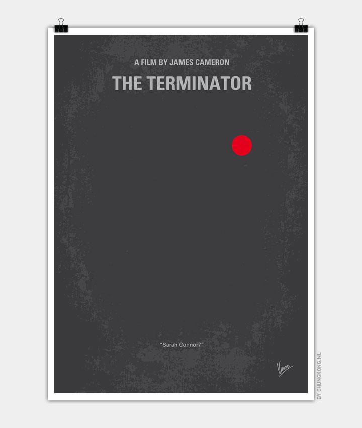 No199 My Terminator minimal movie poster 720px