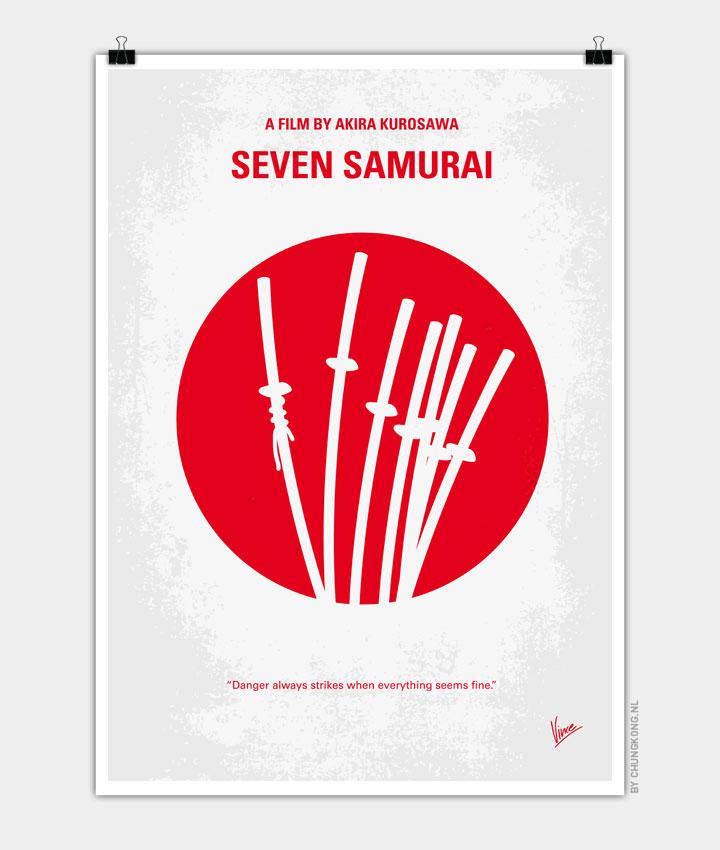 No200 My The Seven Samurai minimal movie poster 720px