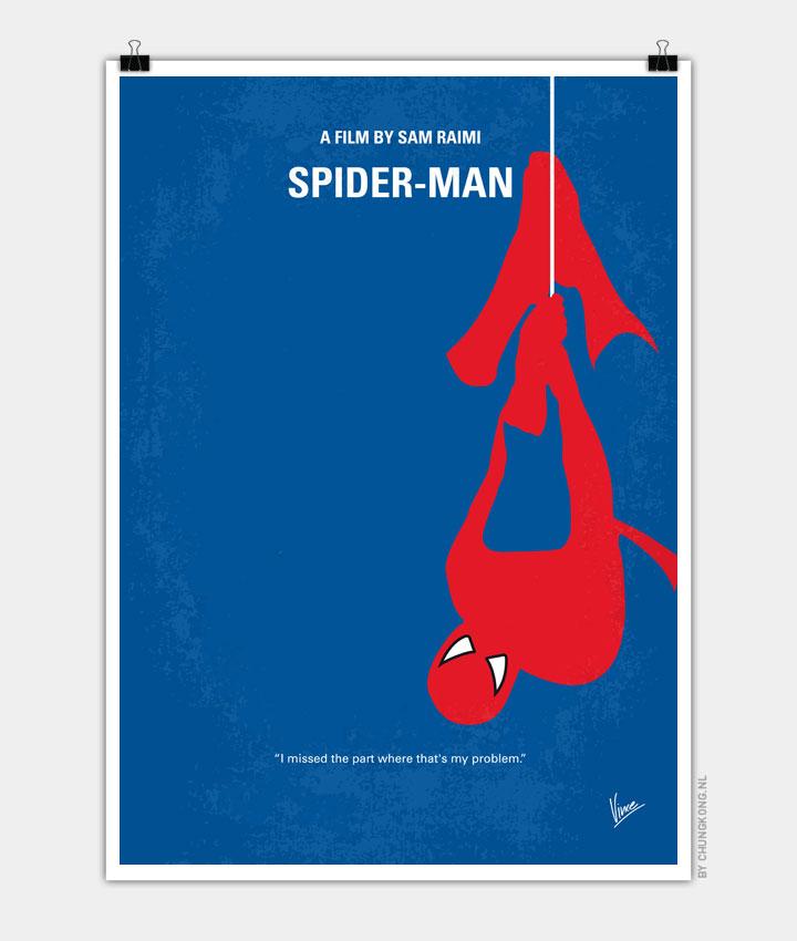 No201 My Spiderman minimal movie poster 720px
