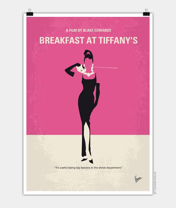 No204 My Breakfast at Tiffanys minimal movie poster 720px