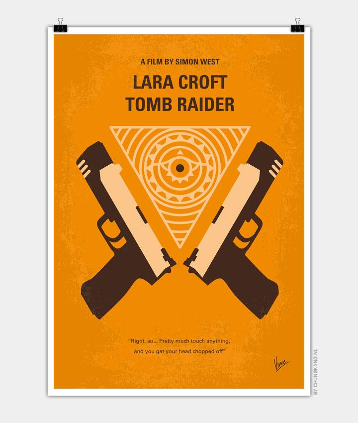 No209 My Lara Croft Tomb Raider minimal movie poster 720px