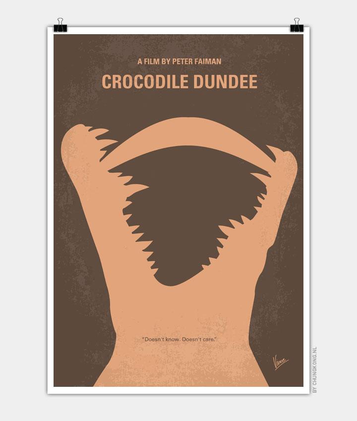 No210 My Crocodile Dundee minimal movie poster 720px