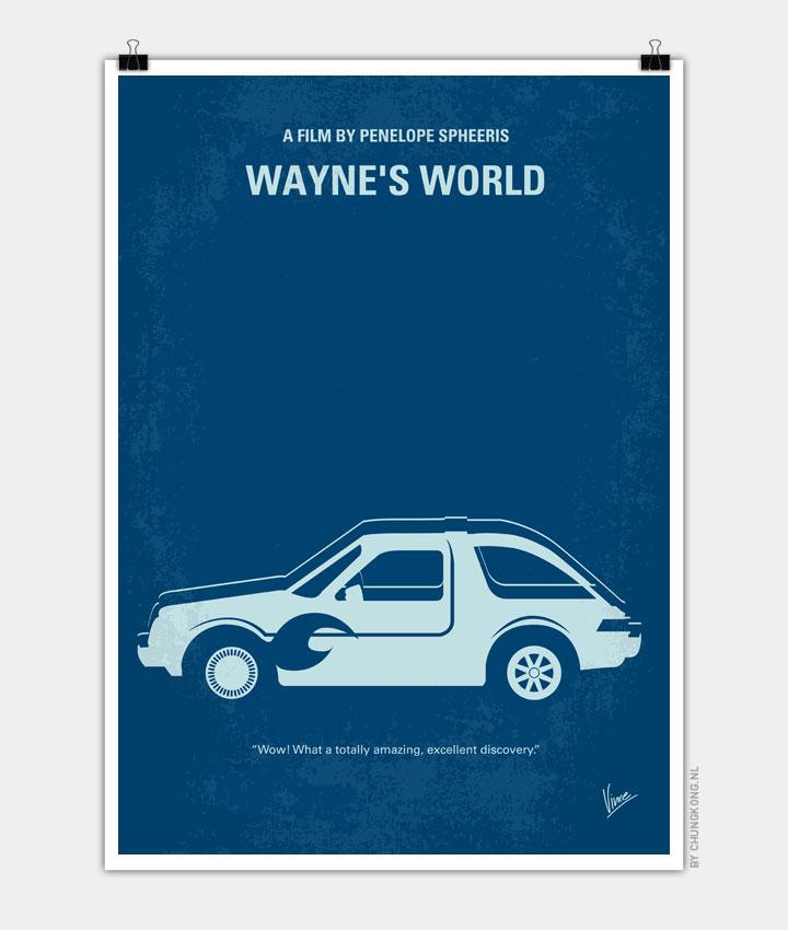 No211 My Wanyes World minimal movie poster 720px