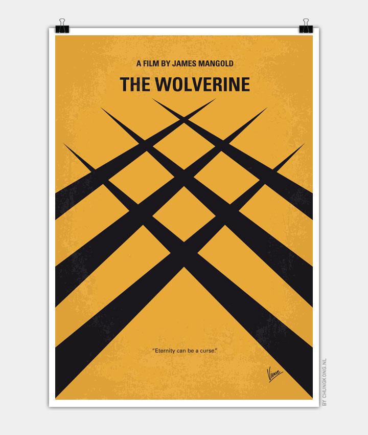 No222 My Wolverine minimal movie poster 720px