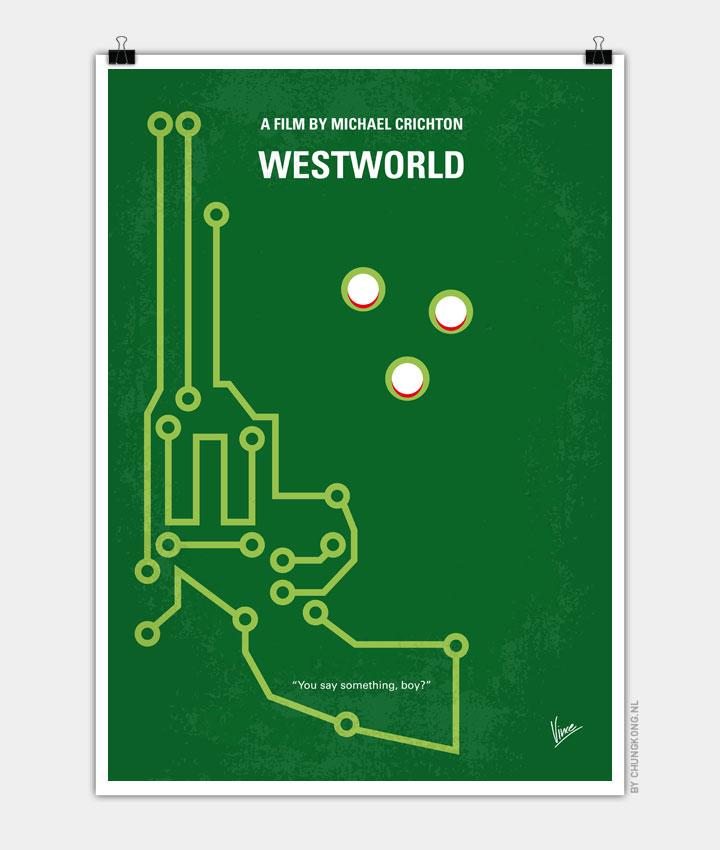 No231 My Westworld minimal movie poster 720px