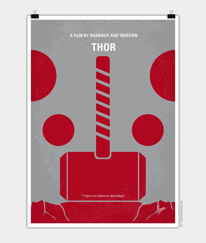No232 My THOR minimal movie poster 720px