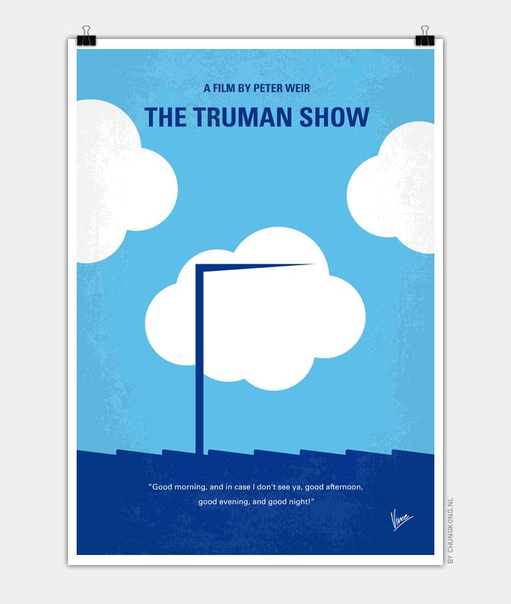 No234 My Truman show minimal movie poster 720px