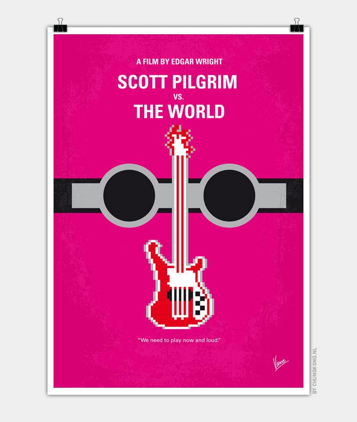 No236 My Scott Pelgrim minimal movie poster 720px